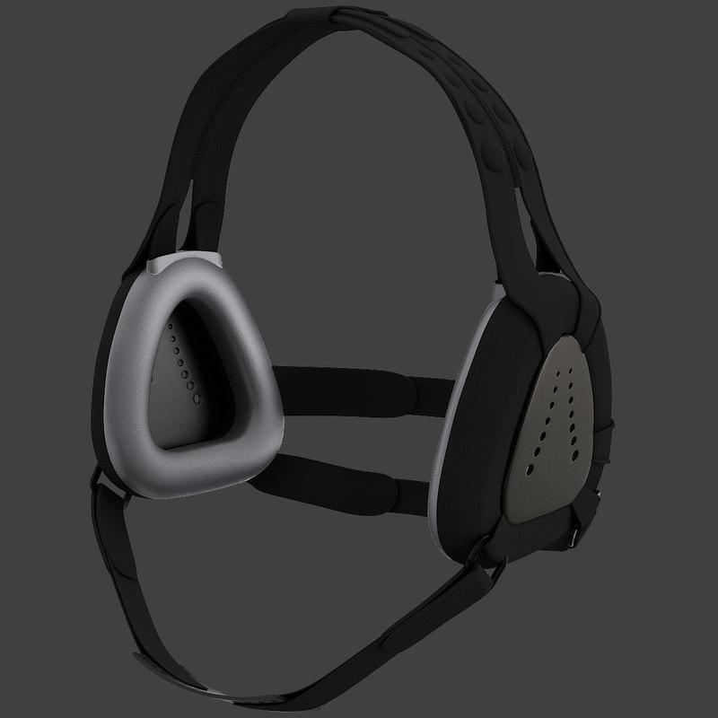 3d asics wrestling ear protectors model