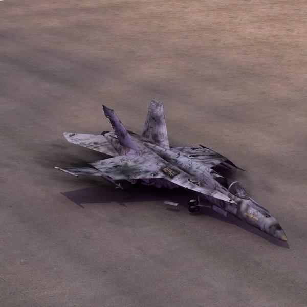 FA18E SuperHornet Wreck