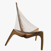 3d max harp chair