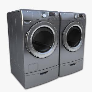 obj loading washer dryer