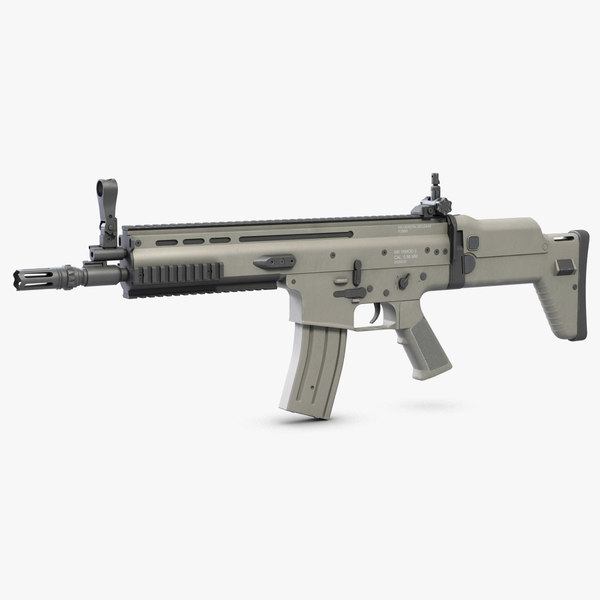 3d model combat assault rifle fn scar