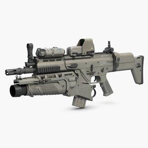 3ds combat assault rifle fn scar