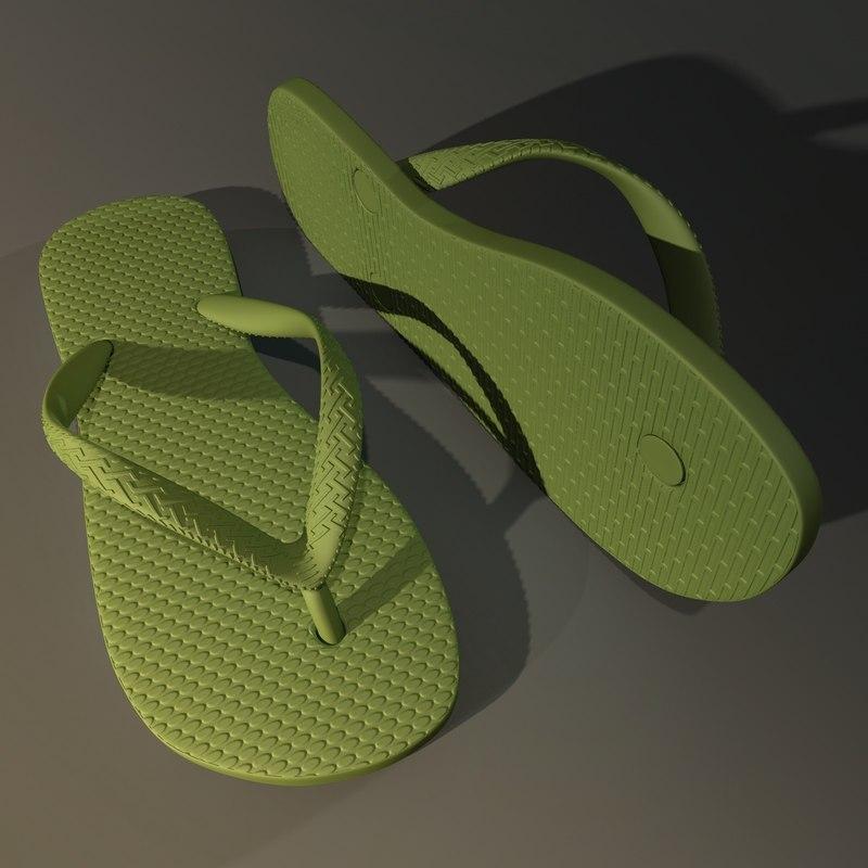 flip-flops havaianas brazil 3d obj