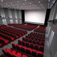 cinema-theater hall modelled 3d max