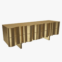 Golden TV Console