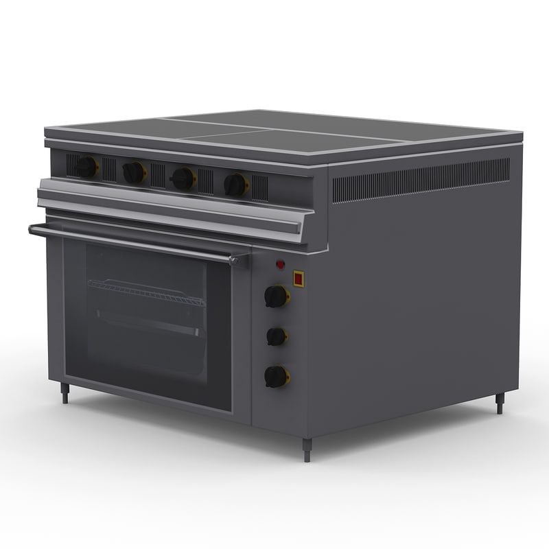 electric baking oven 2 3d model