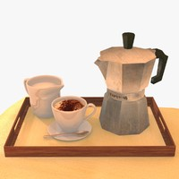 italian coffee pot cappuccino 3d model