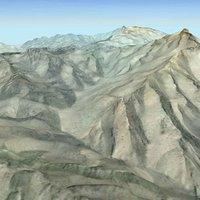 3d photorealistic afghan terrain afghanistan