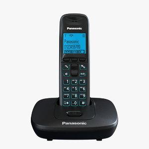 panasonic kx-tg6411 6411 phone 3d model