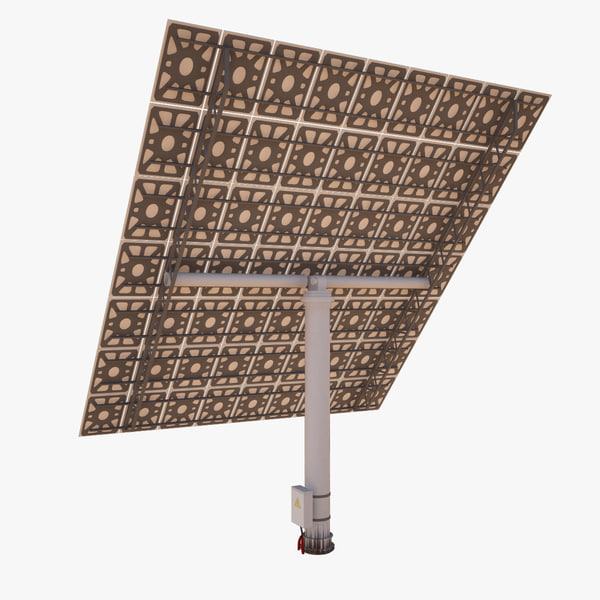 3d solar electric station mirror model