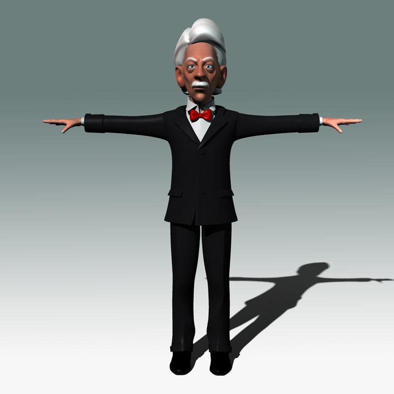 cartoon caricature 3d model