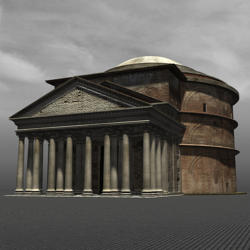 pantheon - rome italy obj