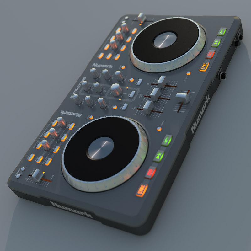 numark mixtrack pro 3d model