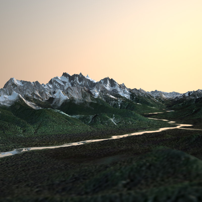 real terrains mount olympus 3d model