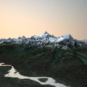 real terrains mount olympus 3d model