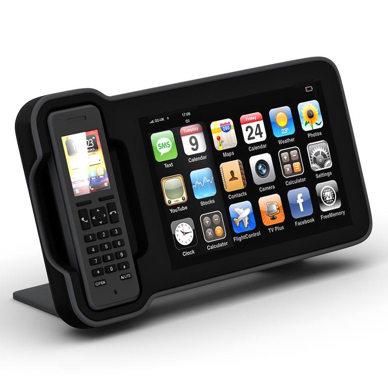 3d model openpeak openframe phone
