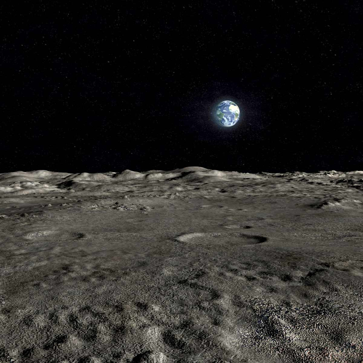 max scene moon surface landscape