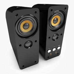 3ds max speakers black