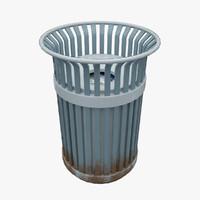 3d small dumpster model