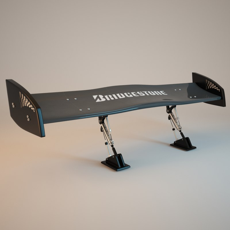 spoiler carbon 3d model