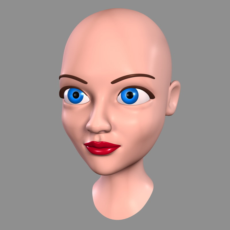 cartoon woman - head max