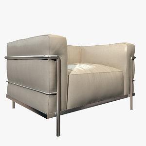3d photorealistic lc3 armchair cassina