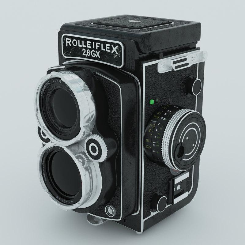 rolleiflex camera obj