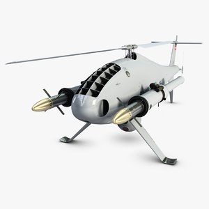3d camcopter armed model