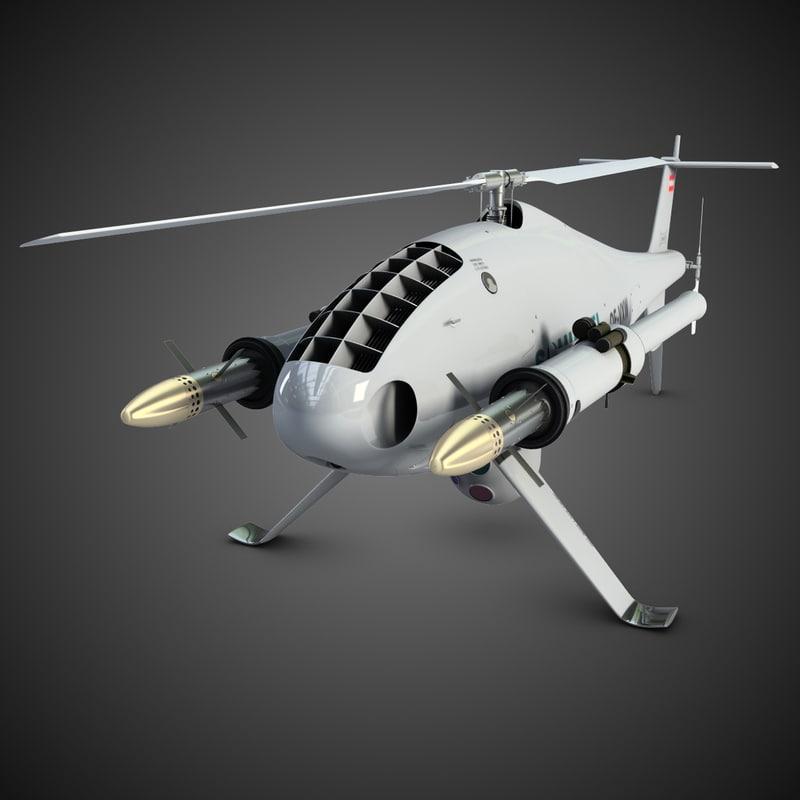 3d camcopter armed model