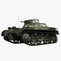 German WWII Panzerkampfwagen I Ausf A Sd.Kfz.101 Light Tank