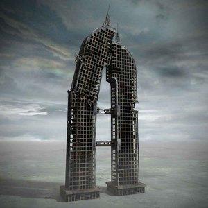 3ds max ruined skyscraper building