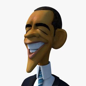 obj cartoon caricature barack obama