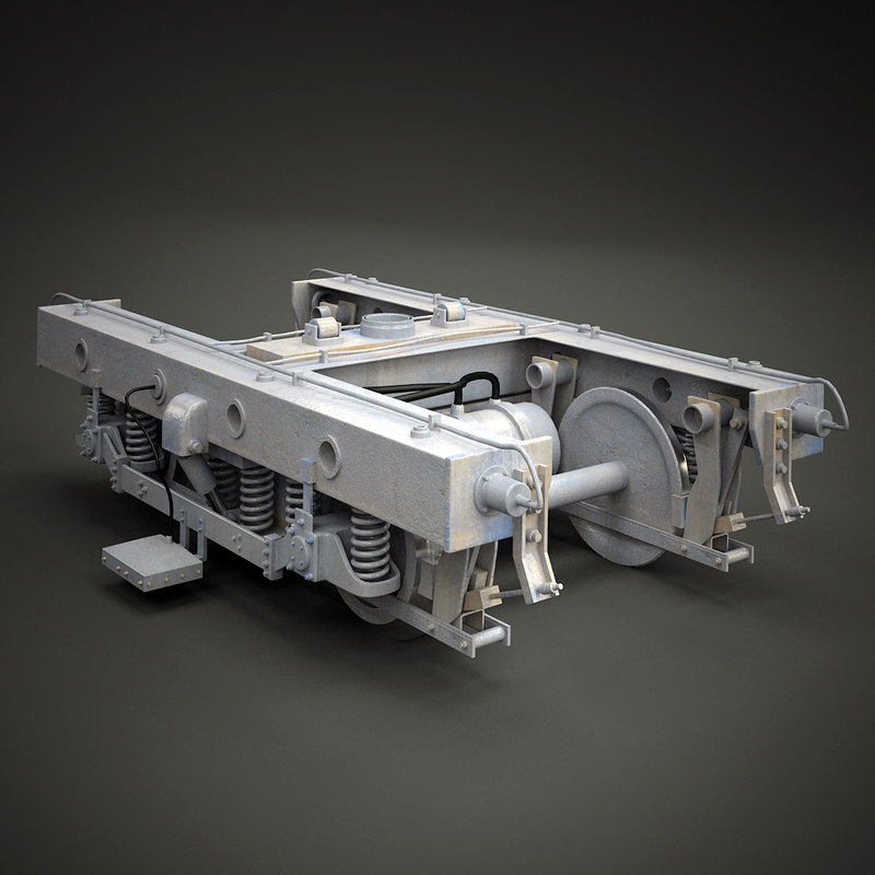 3ds max train chassis