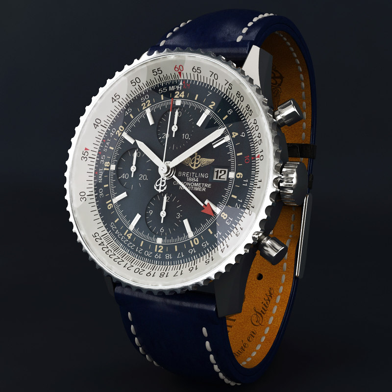 3d max breitling navitimer world modeled