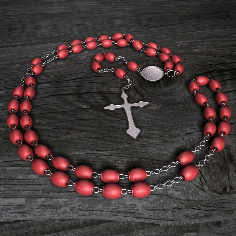 3d model rosary rose mary