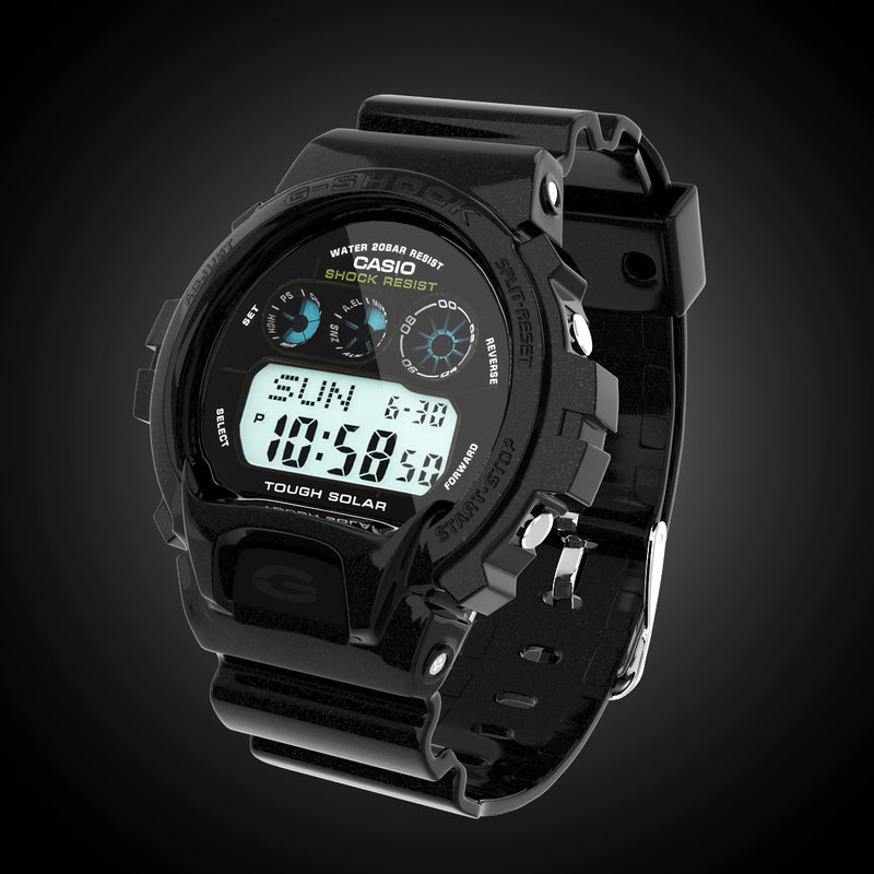 casio g-shock gw-6900 3d model