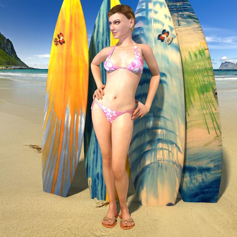 woman bikini max