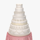 wedding cake 3D models