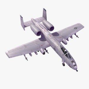 3d model a10c thunderboltii attack
