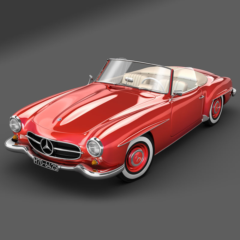 3ds max mercedes benz 190 sl