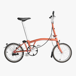 3ds max brompton fold bike