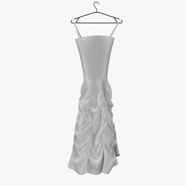 wedding dress 02 hanger 3d model