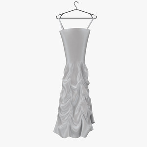 wedding dress 02 hanger 3d model