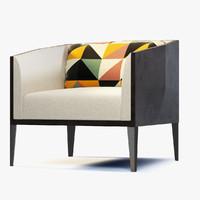 3d okti armchair model