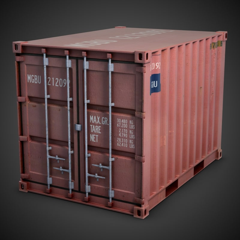 container modeled 3d model