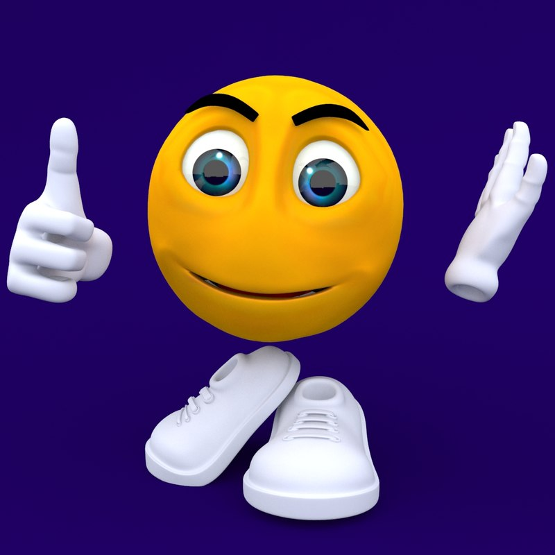 emoticon rigged biped 3d model
