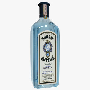 bombay sapphire gin 3d max