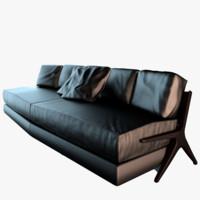 3ds max ceccotti dc290 sofa