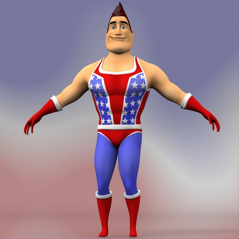 3d hero body animation model