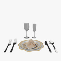 3ds max dining set